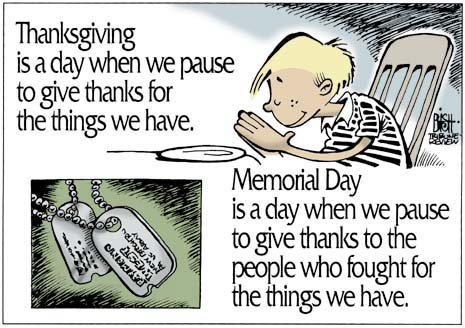 memorial day comics give thanks