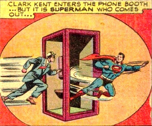 1940s PhoneBooth superman custom comic book