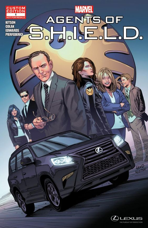 lexus marvel agents of shield product placement comic book marketing advertising
